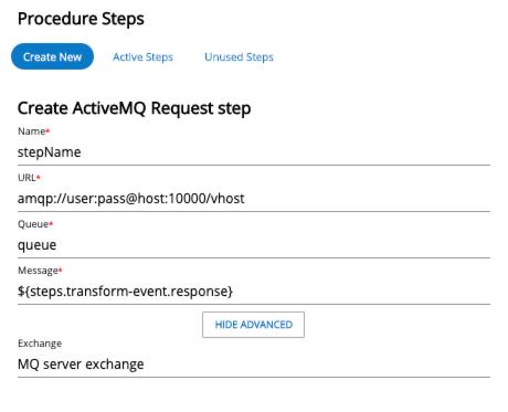ActiveMQ procedure step